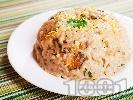 Рецепта Ризото от ориз Арборио с морски дарове (калмари, скариди, миди, октопод), бяло вино и пармезан